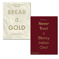 Massimo Bottura 2 Books Collection Set Pack Bread Is Gold Never Trust a SKINNY
