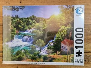 Dalmatia Croatia Jigsaw Puzzle 1000 Piece Landscape Waterfall Tree Water House