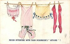 POSTCARD  COMIC   Never  interfere  with your neighbour's  affairs  !