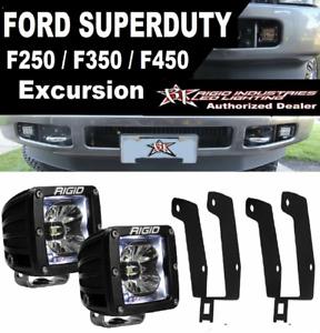 Rigid Radiance Pod White Light&Fog Light Kit 99-16 Ford F250 F350 F450 Excursion
