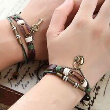 Lock & Key Couple Bracelets Leather Fashion Jewelry Lover Gifts For Men & Women