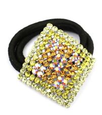 Jeweled crystal ponytail hair band