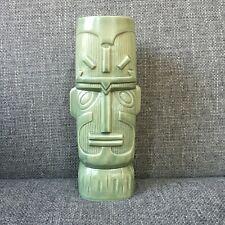 "Tiki Farm? Tall Green Kon-Tiki Expedition Tribute Mug 8"" Thor Heyerdahl"