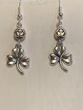 *New Item*Handcrafted Silver Celtic Shamrock Earrings* .925 Sterling Ear Wires