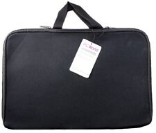 "17x11"" Padded LAPTOP SLEEVE Bag Case Cover BLACK Handles Dual Zipped Protection"