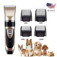 Pet Electric Professional Dog Grooming Clipper Kit Thick Fur Hair Trimmer Shaver