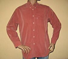 NEW HENLEYS TERRACOTTA LONG SLEEVE MICROFIBRE OXFORD STYLE SHIRT MEDIUM 38/40