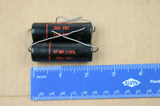 Sprague Black Beauty Capacitor .47uF 200VDC Vintage Axial NOS TESTED 10% USA