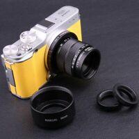 Fujian 35mm f/1.7 CCTV lens for Fuji Fujifilm X-Pro1 camera &Adapter Bundle+hood