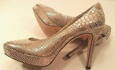 White House Black Market Snowflake Silver Pumps Platform heels Shoes Women 8.5M