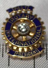Tie Tack / Stud Free Shipping Rotary International Past President 14k & Diamond