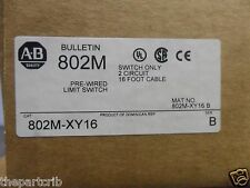 New Allen Bradley 802M-XY16 Pre-Wired Limit Switch 16Ft Cable Series B NIB