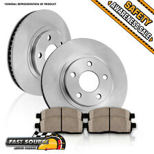 Front OE Brake Rotors and Ceramic Pads FITS 2013 INFINITI JX35 NISSAN PATHFINDER