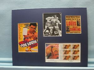 Joe Louis defeats Max Schmeling  & First Day Cover of his own stamp