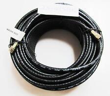 Steren 208-445BK, 100' Black F-F RG6/U Weatherproof Patch Cable, UL, 75 Ohm NEW!