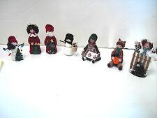 Vintage Christmas Figures Santa Angle Snowmen Halloween Handcrafted Miniatures