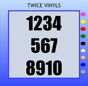 SELF ADHESIVE NUMBERS stickers 1-10 Bold 90mm OR 100mm vinyl set for house bins