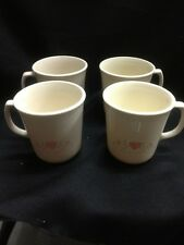 Vintage corning mugs set of 4 These Are The Forever Yours Pattern