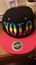 """Multicolor Yolo """"You Only Live Once"""" Snapback Hat"""