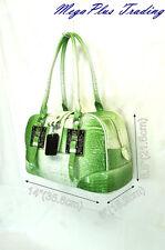 LYDC Designer Mock Croc Hobo Shoulder Tote Bag 8064 Green