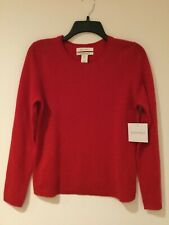 Ellen Tracy 100%Cashmere Sweater Size M Red