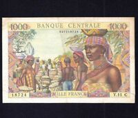 Equatorial African States  1000 Francs  ND  P-5  1963  VF