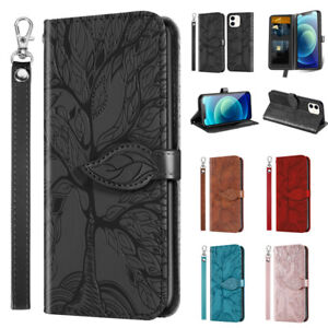 For iPhone 12 11 Pro Max XR X 8 7 6 Plus Case Magnetic Flip Leather Wallet Cover