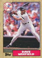 Dave Winfield 1987 Topps #770 New York Yankees baseball card