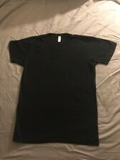 American Apparel Unisex Power Wash T-Shirt Small Black Made in Usa