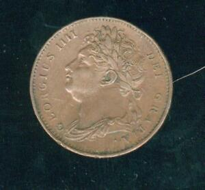 UK Georges IV Farthing 1823 Nice Quality