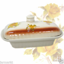 Butterdose groß - Butterglocke für 250 g Butter - Dose mit Deckel - Rosenmotiv