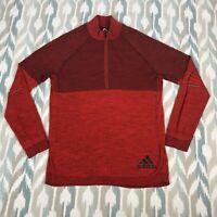 Adidas ClimaHeat Primeknit Mens Wool Long Sleeve 1/2 Zip Sweatshirt Size L Large
