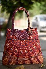 Indian Handbags Women Shoulder Bag Mandala Tote Bag Hippie Handmade Shopping Bag