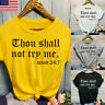 "Womens ""Thou Shall Not Try Me"" Funny T-Shirts Printed Short Sleeve Tee Tops OCCA"