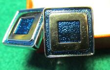 Modern Square with Blue enamel cufflinks