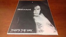 Pete Burns/Dead Or Alive-That's The Way(I Like It)single&DOA tour black&white ad