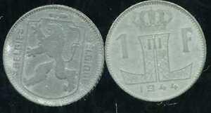 BELGIQUE BELGIQUE   WW2 : 1 franc 1944 ZINC - ( belgie belgique) ( etat )