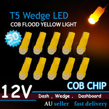Amber Yellow 10x T5 74 2721 COB Convex Lens LED Auto Dashboard Instrument Gauge