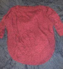 Express Extreme Circle Hem Sweater Medium Hot Pink Black
