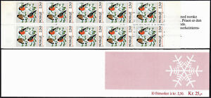 Norway 872a Booklet, MNH. Christmas. Bullfinches, 1985