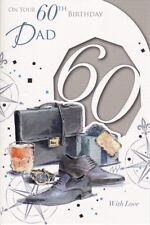 Dad 60th Birthday Card - Age 60 - shoes watch - embossed
