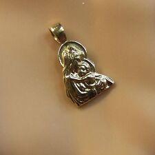 9 ct GOLD  new madonna & child pendant