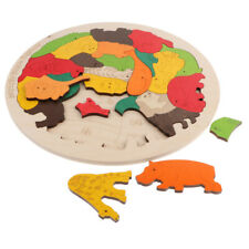Montessori Toys for Kids - Wooden Puzzle Animals Body Alphabet Jigsaw Puzzle