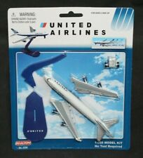 Realtoy United Airlines Boeing 747 Pull Back 'N' Go Toy Model Airplane Kit #6286