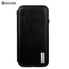 MOLIHUA Magnetic Leather Flip Wallet Protective Case Cover For iPhone 6S 6 Black
