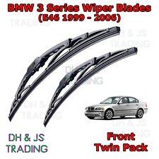 """99-06 BMW E46 Série 3 vordere Wischerblätter Windschutzscheibe 23"""" 20"""" Hakentyp"""