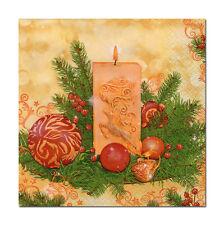 4 Motivservietten Servietten Napkins Weihnachten Weihnachtskerze Kerze (339)