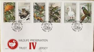 """Jersey Stamps """"Jersey Wildlife Preservation Trust IV"""" First Day Cover 1984"""