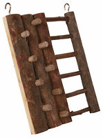 Natural Wooden Climbing Wall with Ladder Hamster Mouse Gerbils Toy