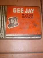 Gee Jay Motor Products Tin Insert Intact Collectable Australian made